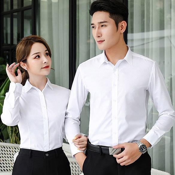 SLLS2-男女同款大斜纹液氨免烫长袖衬衣