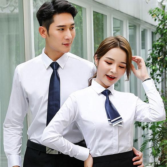 SLLS3-男女同款大斜纹液氨免烫长袖衬衣