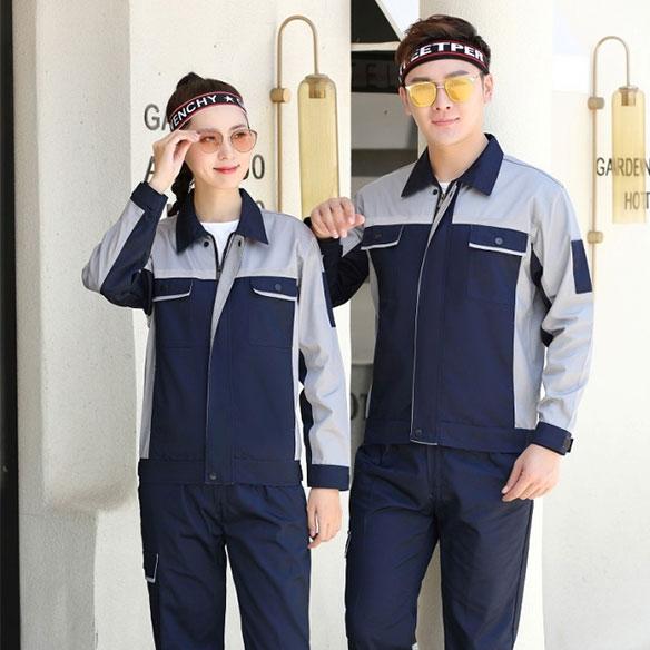 SLXC5-全工艺涤棉细斜纹夏天长袖工装