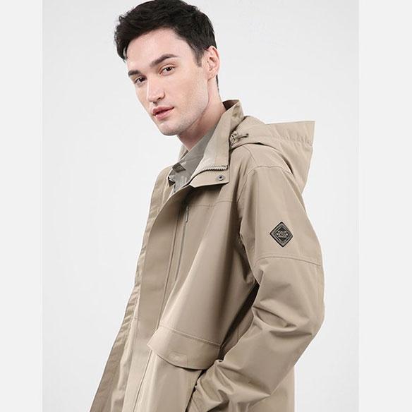 F9126603A-冲锋衣男潮牌中长款薄款透气防水商务外套男女保暖时尚