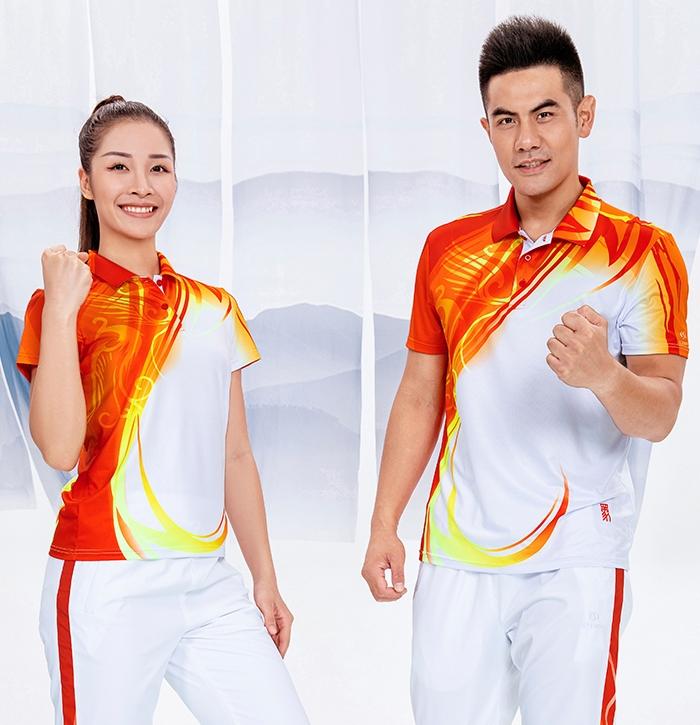 中国风四方祥瑞2020春夏新款男女运动短袖t恤外套采购定做