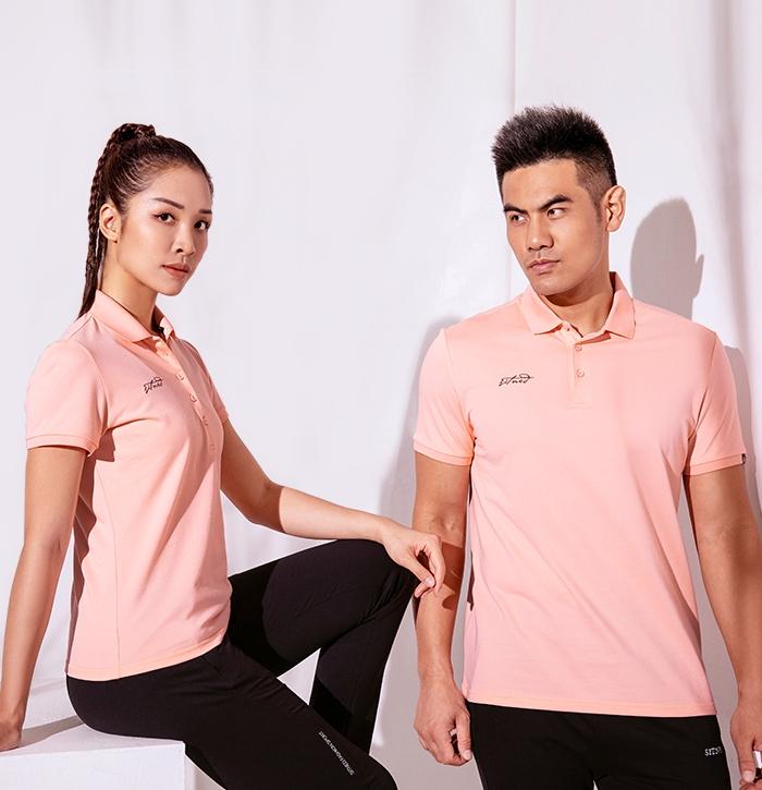 北欧风男女运动短袖POLO衫厂家夏季新款针织t恤88357_88358